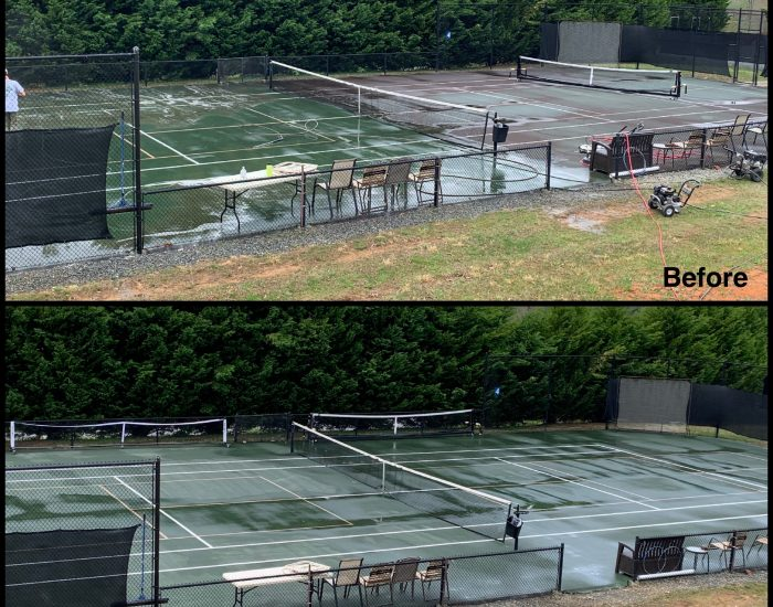 cummings cove tennis court-mold mildew removed