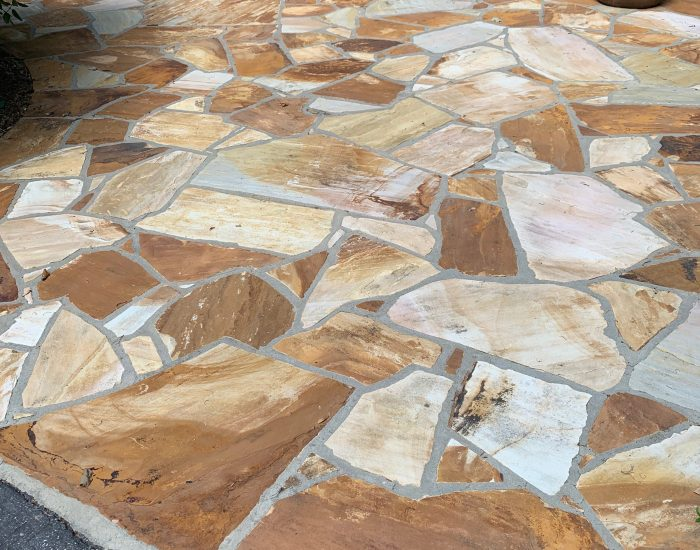 low pressure washing of flagstone patio-mildew removal-ProClean Roof Cleaning services