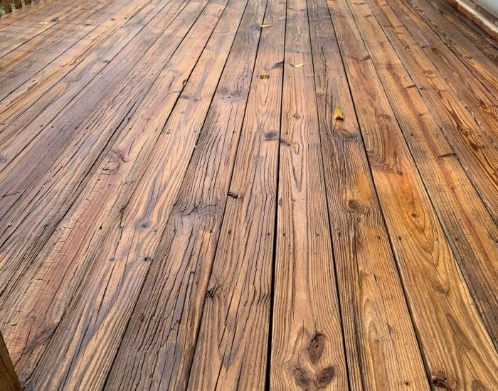 clean deck after low pressure washing