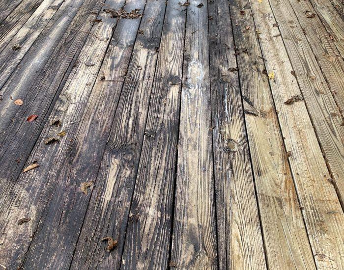 dirty deck-pressure washing