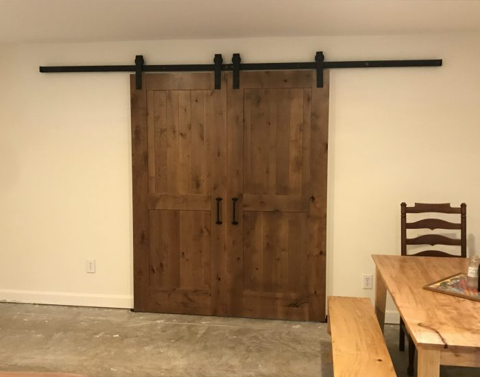 barn door addition with remodeling in Hendersonville NC