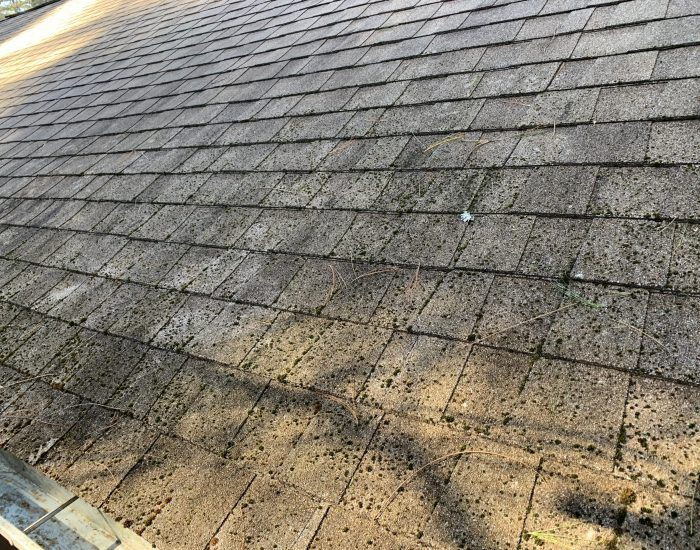 1 roof before low pressure cleaning