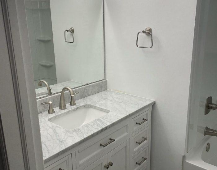 bathroom remodel-new sink vanity