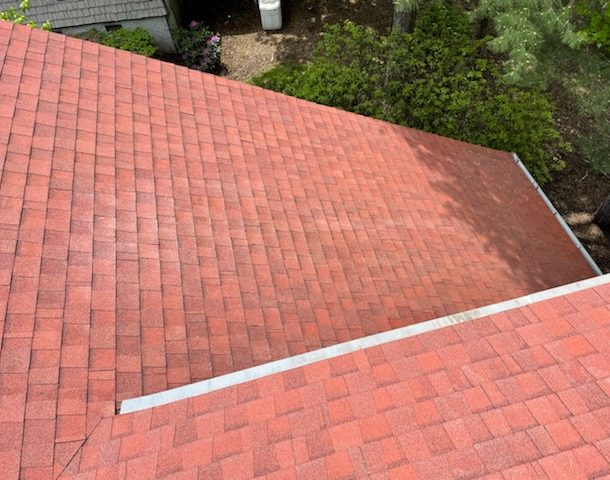 clean roof after mold removed