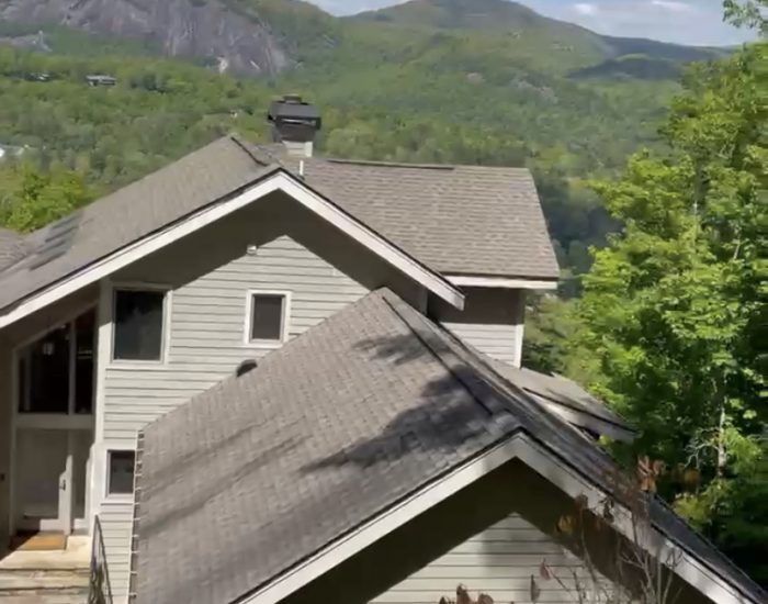 mold and streaks on roof in Sapphire Valley